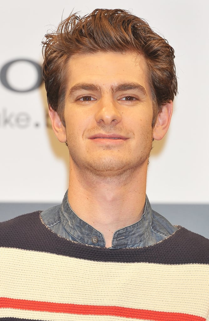 Andrew Garfield was onstage at the press conference for The Amazing Spider-Man in Japan.