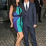 Camila Alves's baby bump stuck out as she posed with Matthew McConaughey.