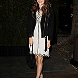 Rachel Bilson worked the trend into an evening ensemble and finished her look with a fresh pair of ankle-strap heels.  Shop the look:
