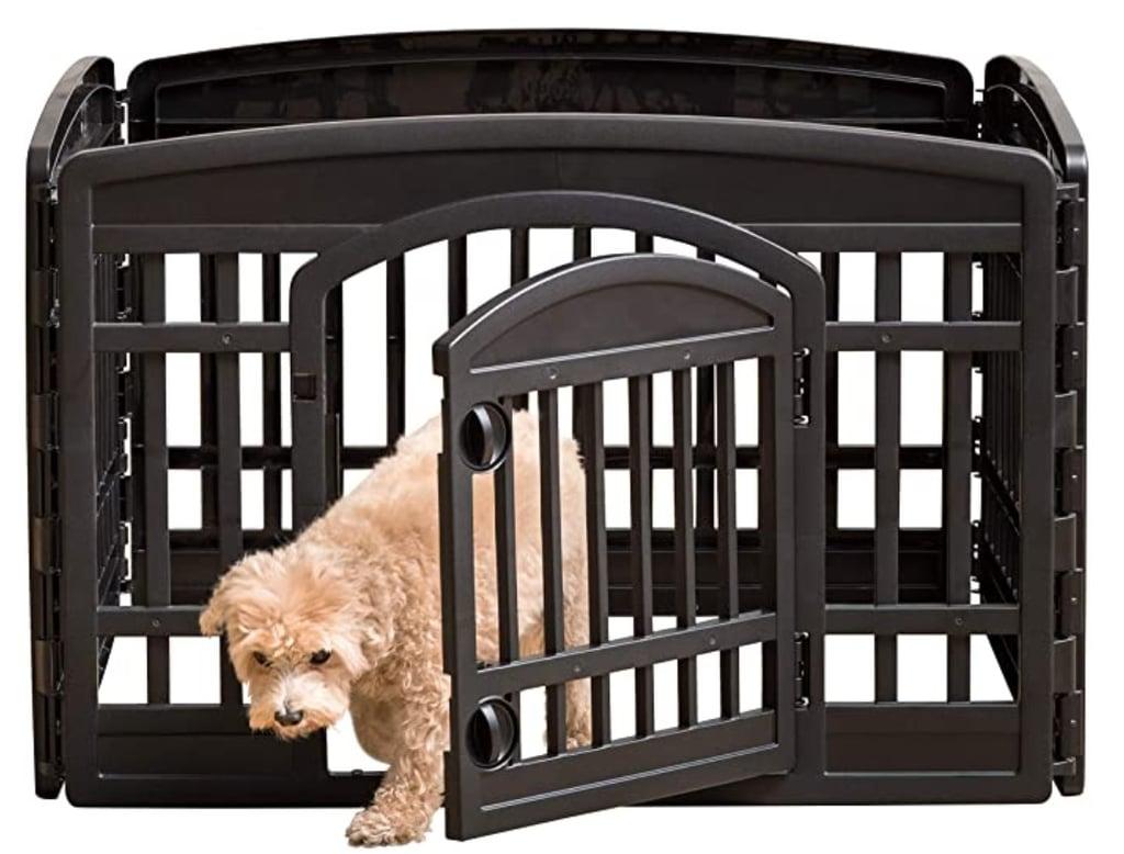 """Iris USA 24"""" 4-Panel Exercise Pet Playpen With Door"""