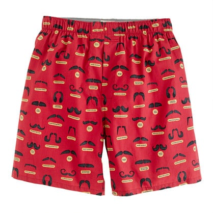You may not be a fan of his Movember 'stache, but mustaches on his J.Crew boxers ($19) are the kind you both can agree on.