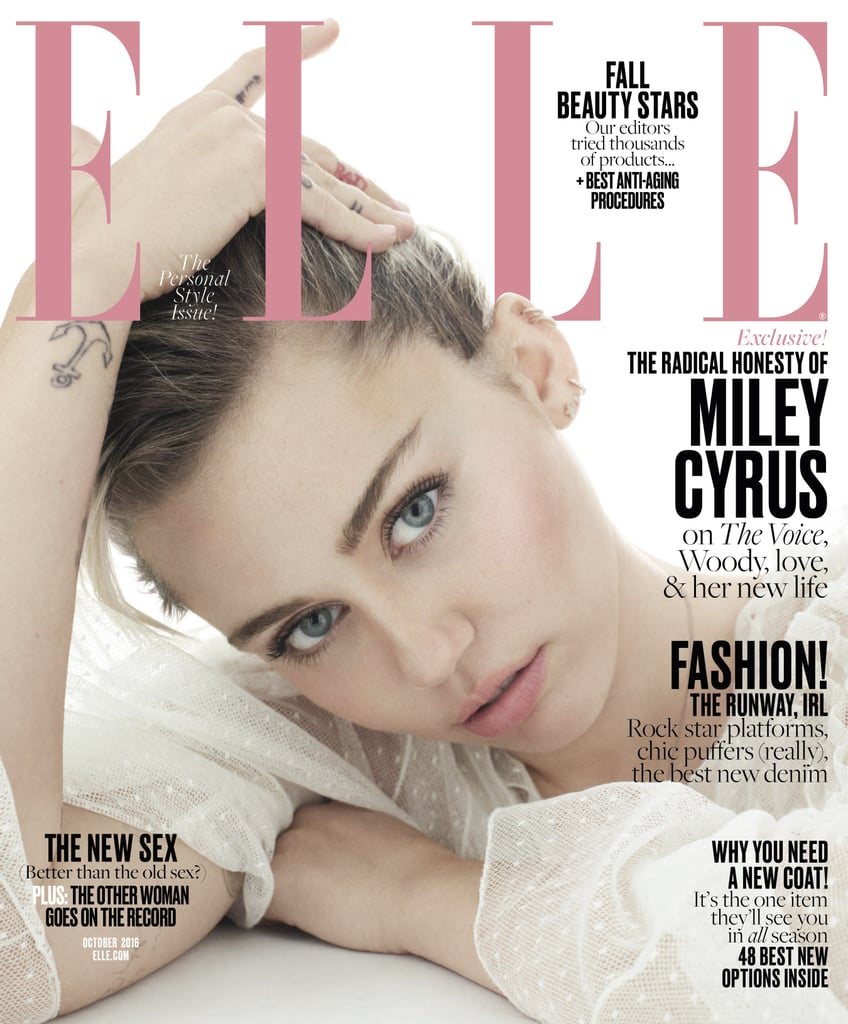 Miley Cyrus On Elle October 2016 POPSUGAR Celebrity