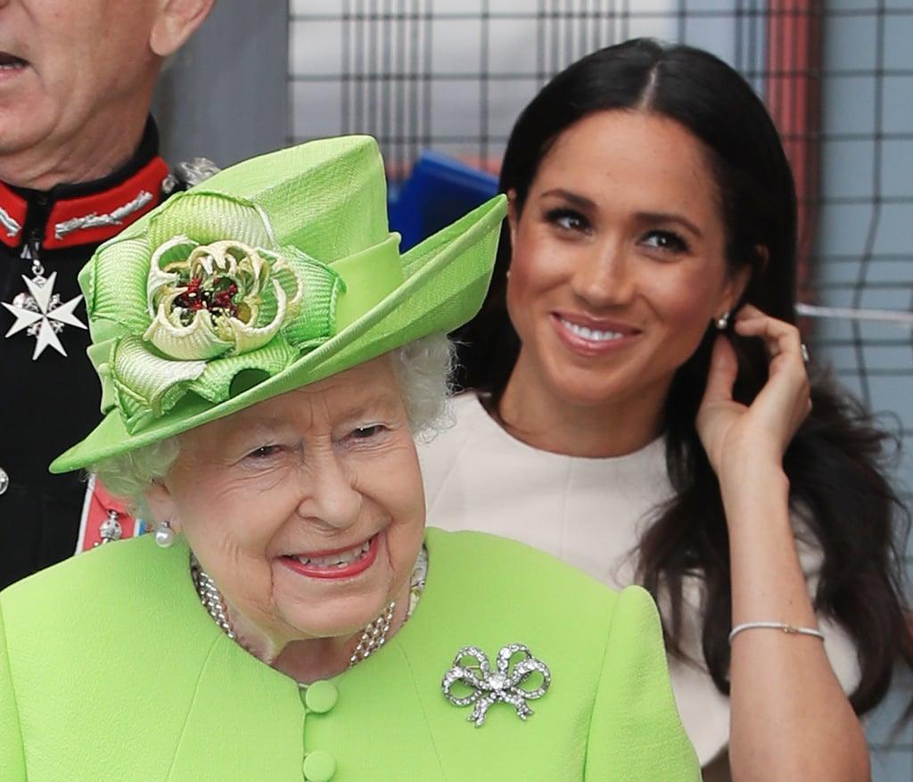 Queen Elizabeth II And Meghan Markle Cheshire Visit