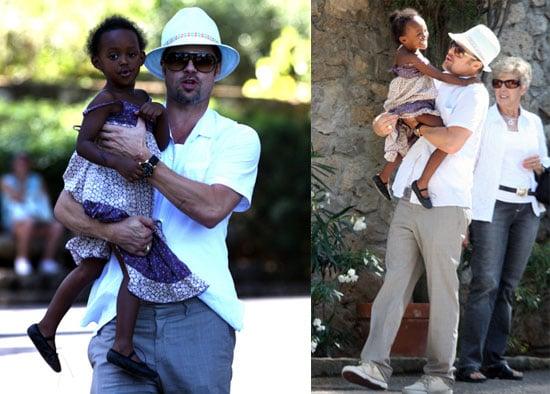 Photos of Brad Pitt With Zahara Jolie-Pitt In France