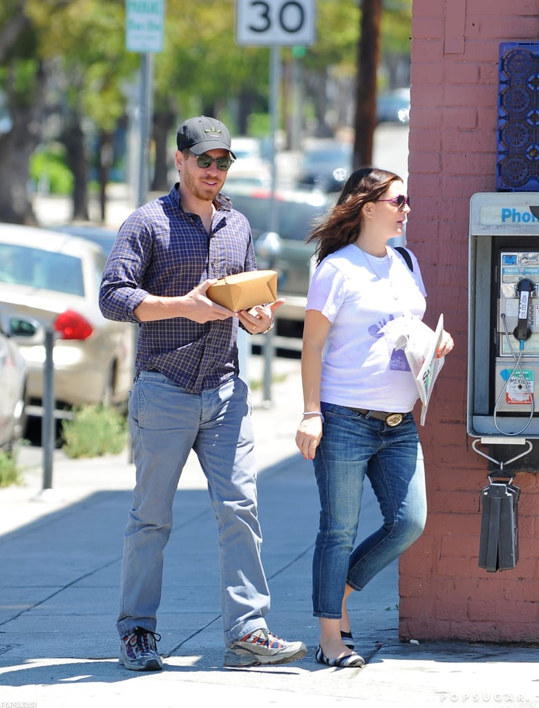 A Very Pregnant Drew Barrymore and Husband Will Share a Laugh in LA