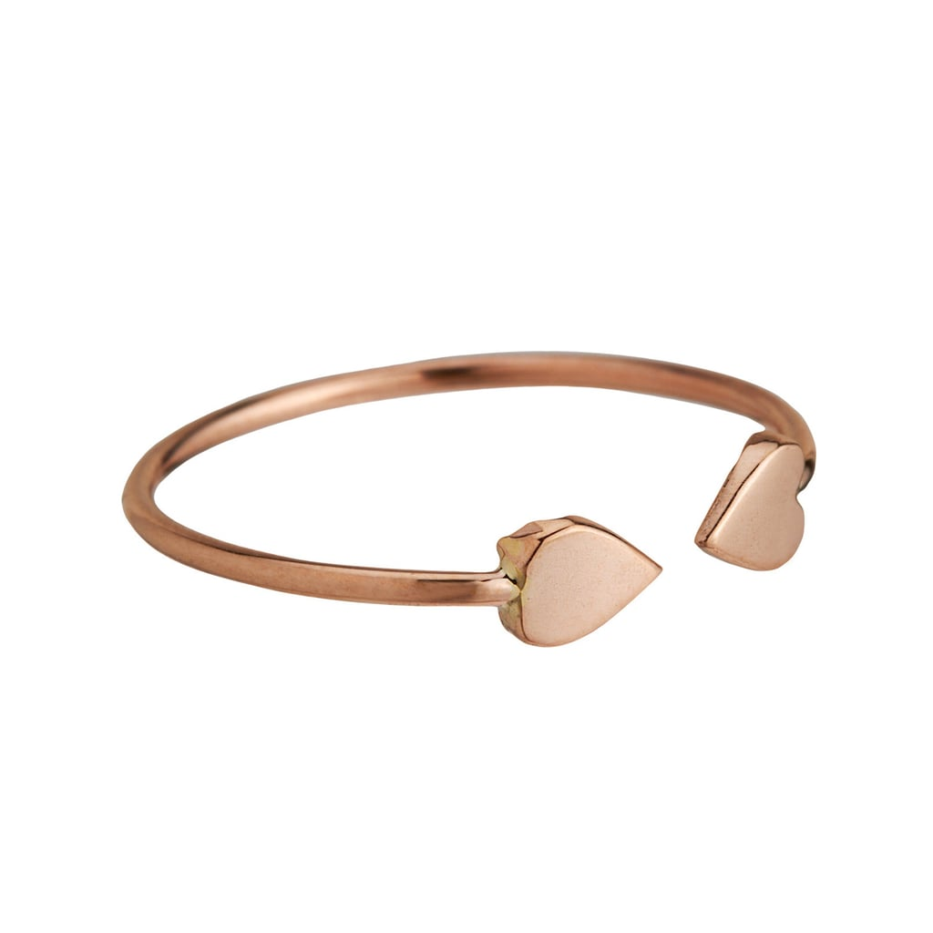 Loren Stewart Rose Gold Heart Ring