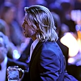 Brad Pitt had long hair at the Critics' Choice Movie Awards.