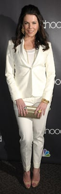 Lauren Graham Wears White to Parenthood Premiere