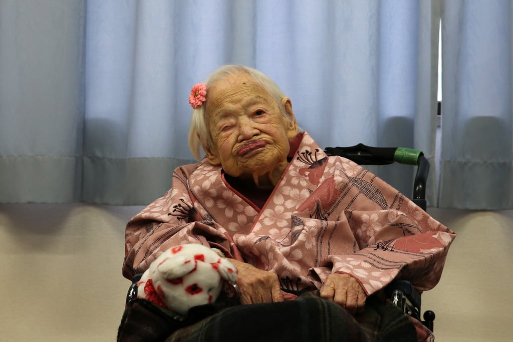 Japan's Misao Okawa was born on March 5, 1898, and today, she celebrates her 117th birthday as the world's oldest living person. She was surrounded by her family for this week's special birthday festivities, which were televised in Japan. Although Misao joked that she wonders about the secret of longevity, she's said in the past that the key is eating sushi and sleeping for at least eight hours each night. Her husband passed away back in 1931, but she has three children, four grandchildren and six great-grandchildren, and she's held the title of world's oldest living person since June 2013. Happy birthday, Misao Okawa!