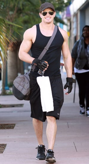 Pictures of Kellan Lutz Muscles Leaving Gym in LA