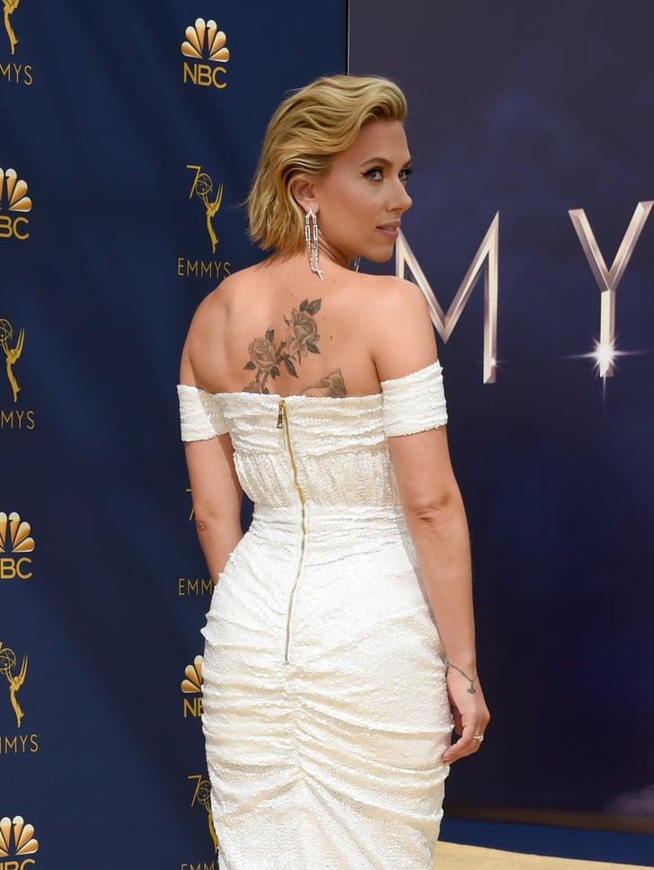 Scarlett Johansson's Back Tattoo | POPSUGAR Celebrity Photo 6