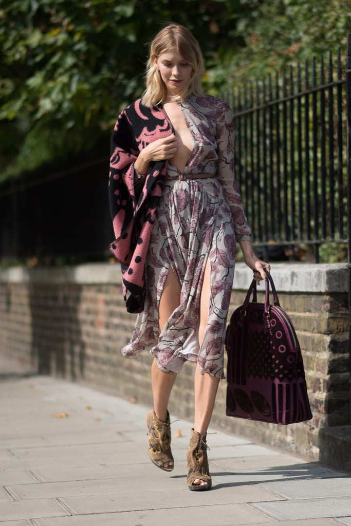 The sidewalk might as well be a runway for Elena Perminova.