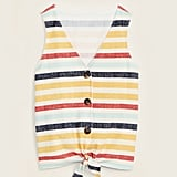 Old NavyCropped Tie-Hem Textured-Knit Sleeveless Top