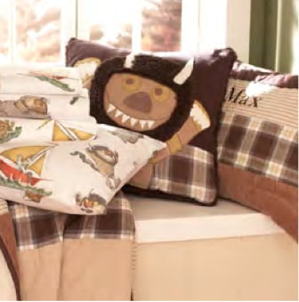 What can we say, we're big fans of Where the Wild Things Are around here and with the recent passing of Maurice Sendak, we're feeling a bit nostalgic. The popular book's characters are the latest to appear in a Pottery Barn Kids collection and we're digging the sheets, shams, quilts, and wall murals.