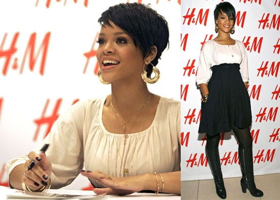 Rihanna at H&M Fashion Against AIDS Launch
