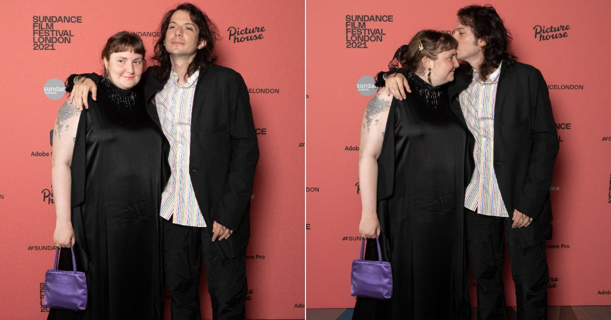 Lena Dunham and Luis Felber attend the Zola special screening at Picturehouse Central on August 01, 2021 in London, England.