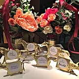 Metallic Gold Animal Place Card Holders