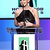 Carey Mulligan gave an acceptance speech at the 2011 Hollywood Film Awards.