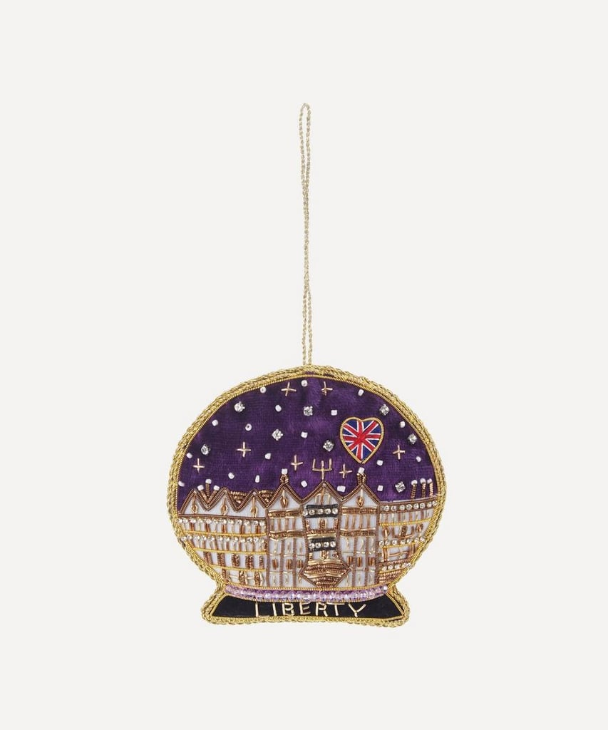 Liberty London Liberty Embroidered Snow Dome Decoration