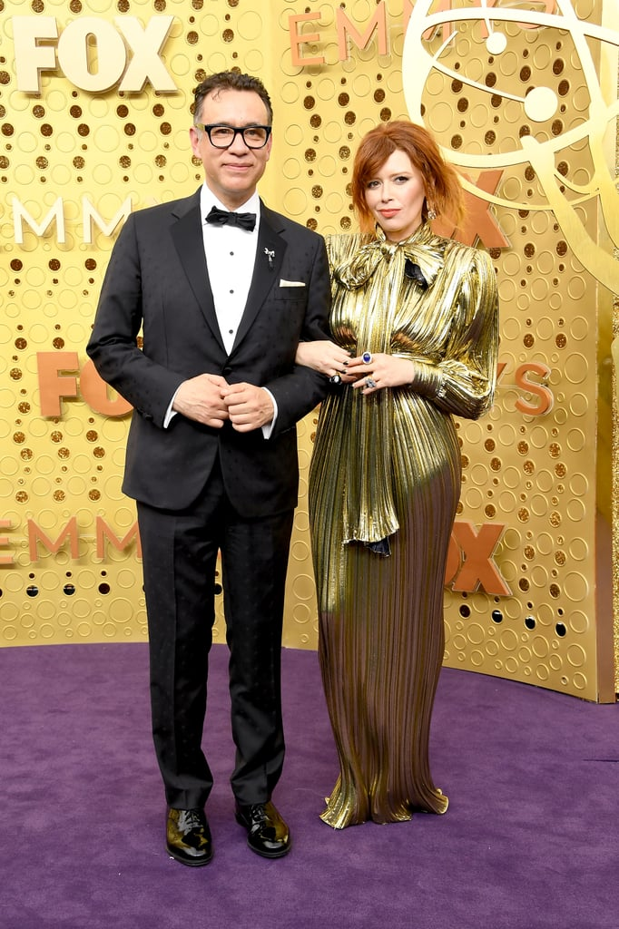 Natasha Lyonne had a big night at the 2019 Emmys, and she had her man right by her side. Fred Armisen and Natasha arrived arm-in-arm at the award show on Sept. 22 and reminded everyone of their longtime love. Natasha was nominated for outstanding lead actress in a comedy series for Russian Doll, and the show was also nominated for outstanding comedy series. With the cameras panning to Natasha and her now-viral clap during the show, viewers took to Twitter to share how they just realised the two are a couple. Natasha and Fred recently celebrated their five-year anniversary, as Elle reported they were first linked together at an Emmys party in 2014, and they're making one cute comedic couple years later. Check out photos of Natasha and Fred at the Emmys ahead.      Related:                                                                                                           The Orange Is the New Black Cast Is Dripping in Glamour at the Emmys