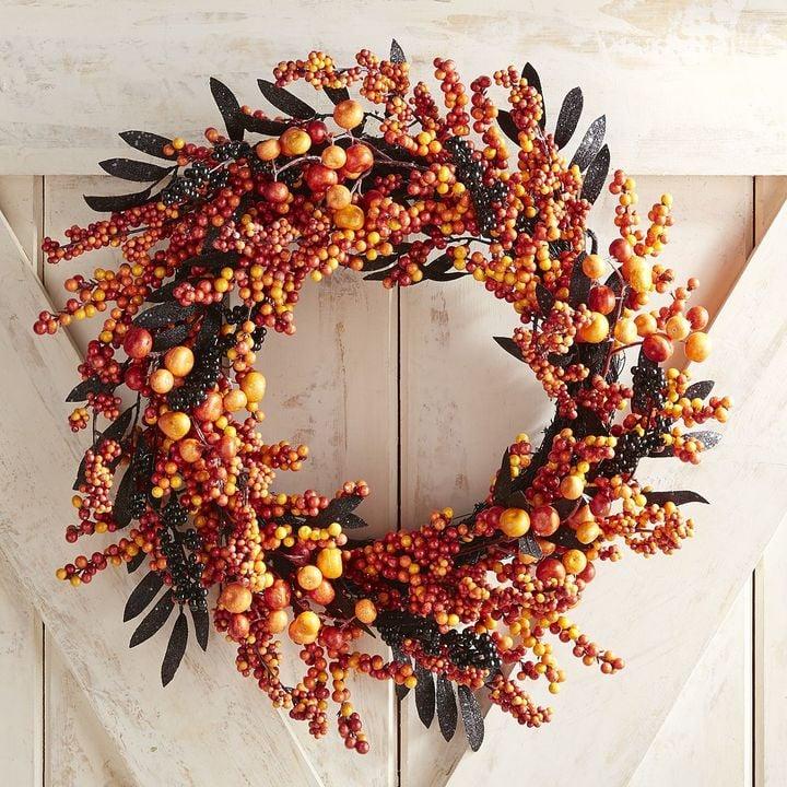 Pier 1 Imports Orange Berry Wreath