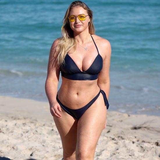 Iskra Lawrence Navy Blue Aerie Bikini