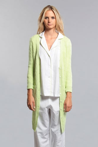Cable-Knit Cashmere Robe
