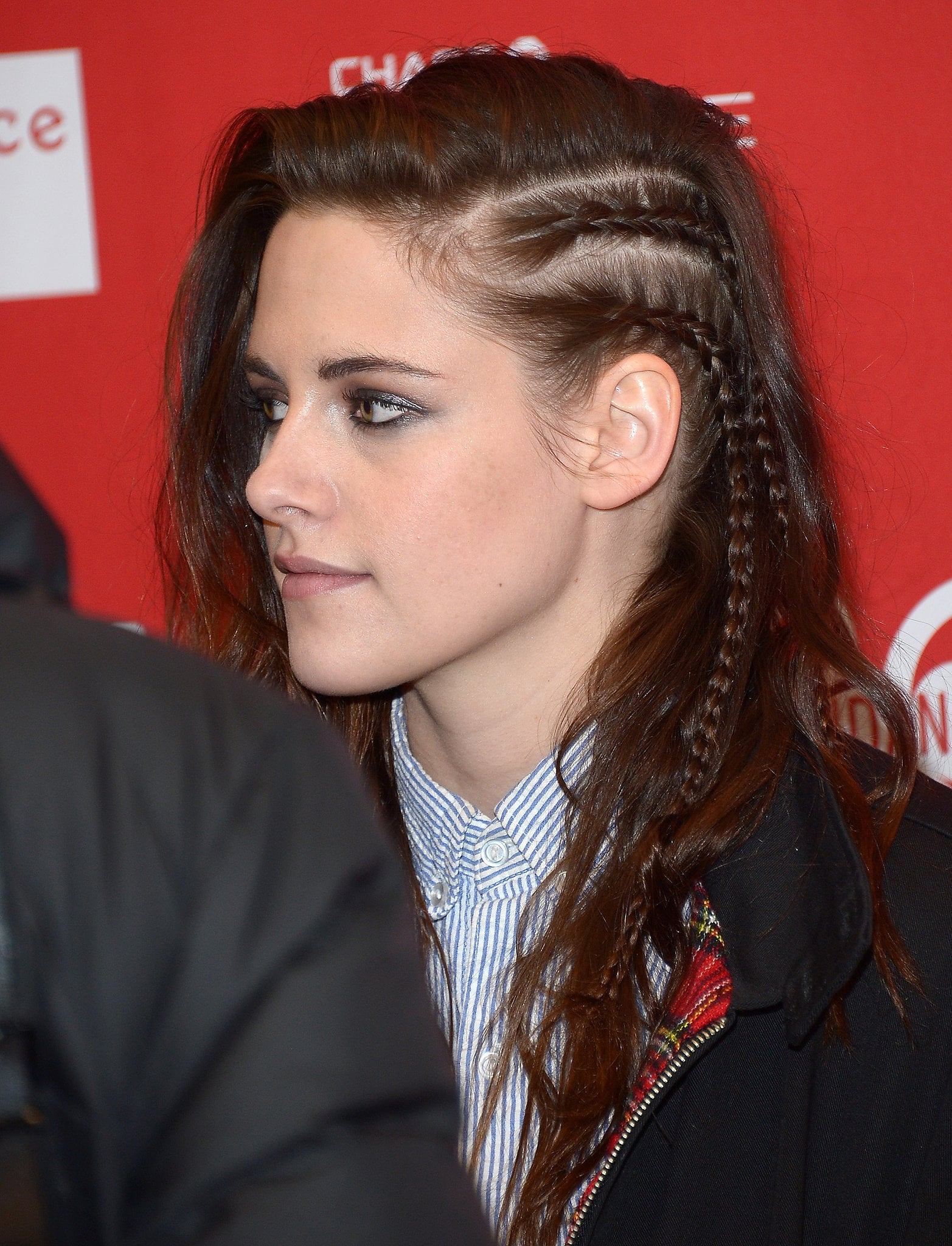 PS: Let's talk about that faux undercut you rocked during the Sundance Film Festival. It was such a cool twist! KS: Aw, thanks, dude. I really do like it when people do that — the whole shaved thing looks cool to me. But I didn't want to shave my head, and I also thought it was cool to do a take on it. I had to work all day, so I wanted something that would stay. It was literally cornrows. PS: Would you ever get the It haircut — a short style like a bob or lob? KS: Yeah, definitely. I have always wanted to get a full-on boy cut. When a girl does it — even if it's a little masculine — it still usually looks like a girl cut. I want to do just a full-on boy cut. PS: Who would be your inspiration for that? KS: Maybe this is a little lame, but straight-up James Dean. Like old-school. It would be pretty cool. PS: I bet everyone would copy it if you did it. Do you have a beauty icon? KS: If you took aspects of Patti Smith and put Brigitte Bardot in the mix made it really sexy — that is what I aspire to.
