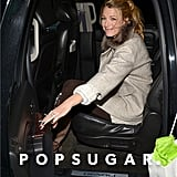 Blake Lively smiled as she got into her car.