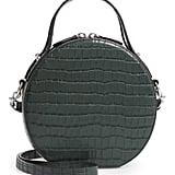 Rebecca Minkoff Jody Croc Embossed Leather Circle Crossbody Bag