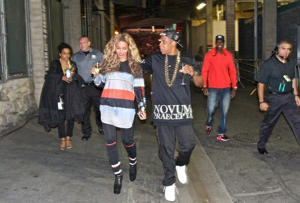Jay Z and Beyoncé shared a celebratory glass of Champagne in July 2013. Source: Tumblr user Beyoncé