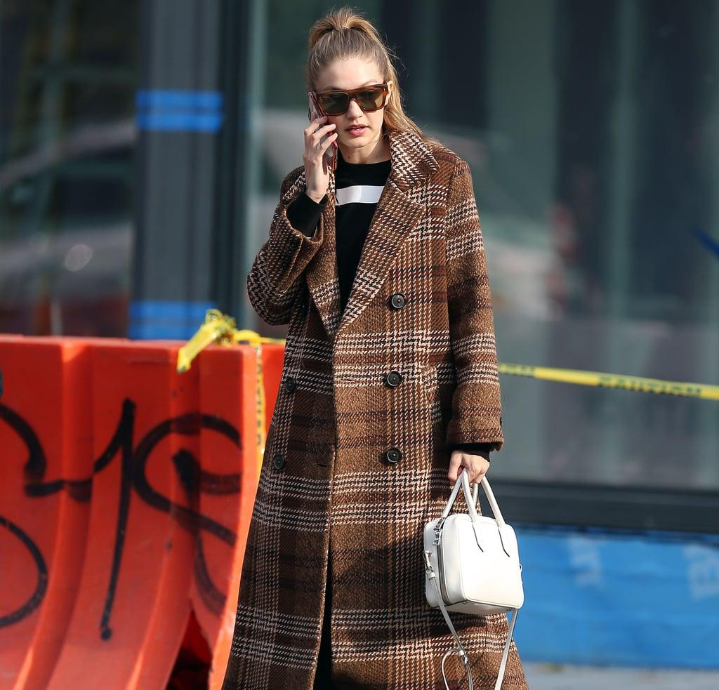 Gigi Hadid's Brown Coat From Mango