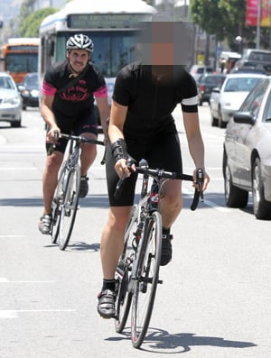 Picture of Celebrity Biking in Hollywood
