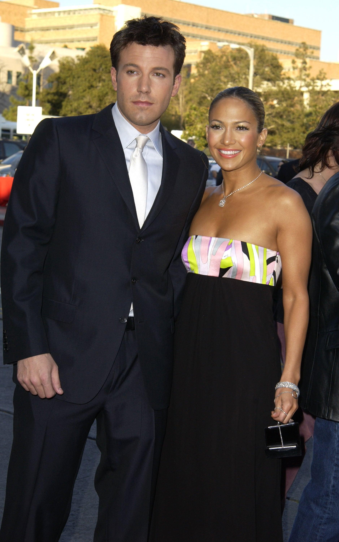 Ben Affleck and Jennifer Lopez during