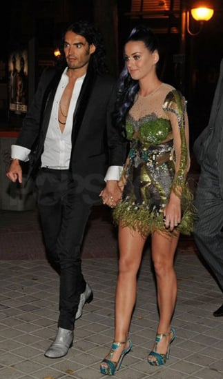 Pictures of Newlyweds Katy Perry and Russell Brand Joining Rihanna and Matt Kemp For a Post-EMA Double Date