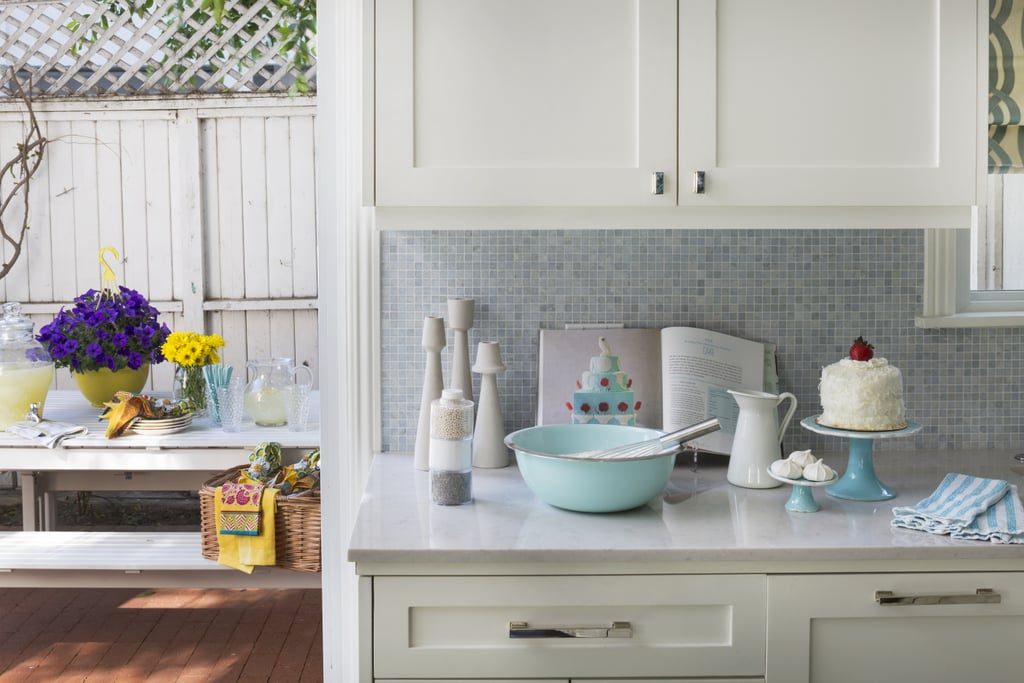 the kitchen was completed with a tile backsplash from ann sacks and custom made cabinets the kitchen was completed with a tile backsplash from ann sacks      rh   popsugar com