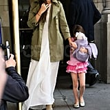 Katie Holmes and Suri Cruise left their NYC apartment on Suri's 6th birthday.