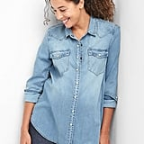Gap Maternity TENCEL denim western shirt