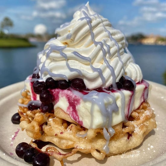 Epcot's Blueberry and Lemon Cheesecake Ice Cream Funnel Cake