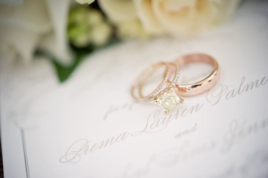 34. Rings on Wedding Program