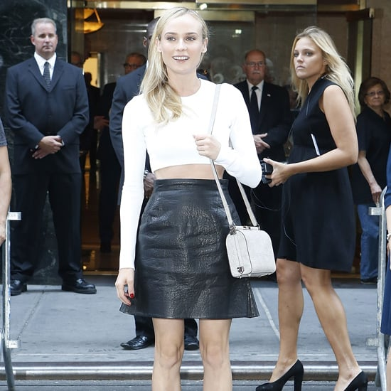 Diane Kruger Wearing White Crop Top