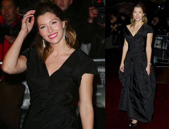 Jessica Biel at the Gala Screening of Easy Virtue at the London Film Festival