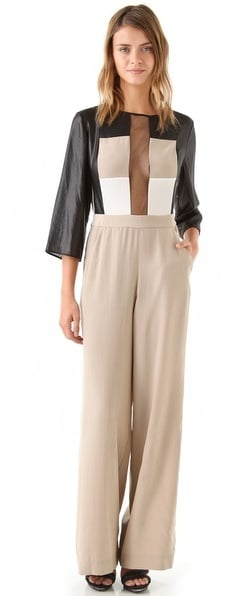 We're loving this graphic colorblock BCBGMAXAZRIA Frances Jumpsuit ($448) — it's bound to be a conversation piece.