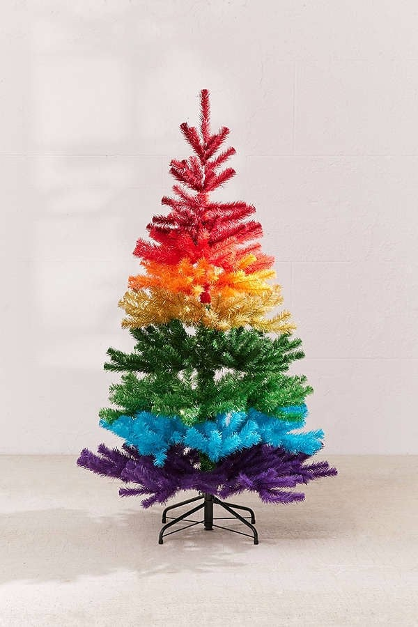 Artificial Rainbow Christmas Tree Popsugar Family
