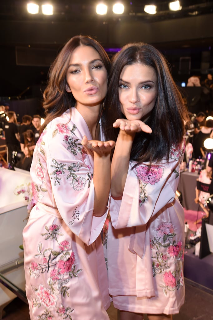 Pictured: Lily Aldridge and Adriana Lima