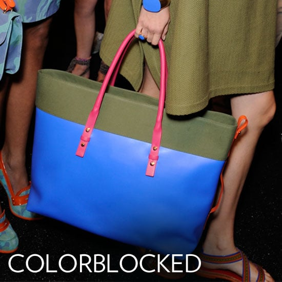 Why we love it: Colorblocking is taking over our wardrobes and our accessories — and we love the splash of brights on our bags. It's an easy way to add interest and feels entirely modern. How to wear it: These are perfect everyday bags. Don't let the colors distract you, just feel free to build up the color and print in your outfit to play off the colors on your bag.  Photo: Tommy Hilfiger Spring 2012