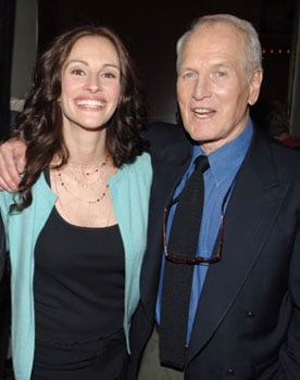 Photo of Julia Roberts and Paul Newman; Julia Will Honor Paul at a Benefit on Oct. 27