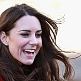 Kiki's diamond and white topaz Grace studs are a go-to for so many of Kate's engagements, from a St. Andrews visit in 2010 to her first Trooping the Colour and hockey practice with the Olympic team.