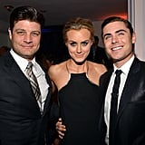 Jay R. Ferguson, Taylor Schilling, and Zac Efron hung out the afterparty for the Lucky One premiere in LA.