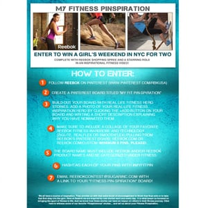Create Your Fitness Pinspiration Board For the Chance to Win! Entering is easy; simply follow the steps below and you and your f